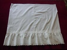 ANCIEN JUPON COTON BRODE (à terminer) VINTAGE 40/50 COTTON EMBROIDERED PETTICOAT