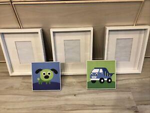 5PC Kids Photo Set- 3 Frames 🖼 1 🐶 Dog 1 Truck Display Wall Art- Kids Room!!!!