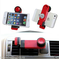 Car Air Vent 360 Rotate Red Phone Bracket Clip Case Holder Mount for iPhone 5 6