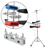Alloy Percussion Instrument Holder for Hi-Hat Drum Cow Bell Accs Stand Clamp