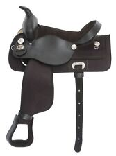 14 Inch Western Saddle - Black Synthetic and Black Leather - King Series