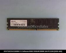Infineon HYS72D256320HBR-5-C DDR 2GB PC-3200 Reg ECC 400Mhz 2Rx4 RAM Memory