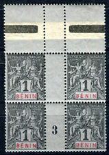 BENIN 1894 Yvert 33 ** POSTFRISCH im VIERERBLOCK(F3530