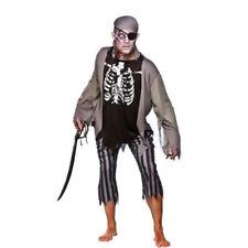 Disfraces de hombre piratas de poliéster de color principal negro