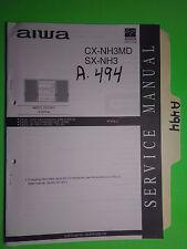 Aiwa cx-nh3md sx-nh3 service manual original repair book stereo radio cd system