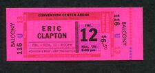1976 Eric Clapton Unused Full Concert Ticket San Antonio Texas No Reason To Cry