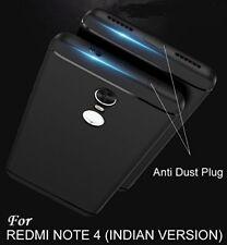 Anti Dust Plug Rubberised Slim Soft Silicone Back Cover 4 Xiaomi Redmi Mi Note 4