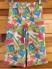 *PSKETTI* Girls EUC Pink Tropical Flower Hawaiian Print Capri Cropped Pants 6X