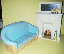 Dollhouse Fisher Price Loving Family Couch Tall Fireplace 2002 Furniture