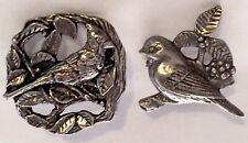 VINTAGE - SIGNED BIRDS & BLOOM - COMMEMORATIVE BIRD PINS