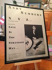 """Big 11X14 Framed Andy Summers (The Police) """"Xyz"""" Solo Lp Album Cd Promo Ad"""