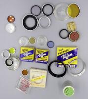 Lot of Vintage Filters, Film Can. Edna Lite, Tiffen, Etc.     #51325