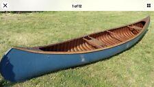 "New listing Peterborough Canoe Co. ""Otonobee"" wood canoe + 2 vintage paddles Length = 16'"