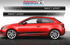 SEAT SPORT SIDE STRIPES DECAL FOR SEAT LEON STICKERS AUFKLEBER