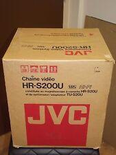 JVC VHS  HR-S20U Video Cassette Recorder VCR TU-S20U Tuner Adapter VHS NEW NOS