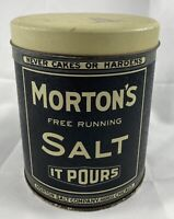 Collector Tin Vintage Look Morton's Salt Tin Can Container Thoikol Bristol Ware