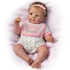 Ashton Drake DADDY'S LITTLE GIRL Lifelike Baby Girl Doll By Sherry Rawn