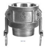 "1/2"" Type B Camlock Female Coupler x Male NPT 304 Stainless, Hose <B050SS304"