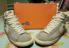 NIKE BLAZER HI SUEDE BASKETBALL TRAINERS IN WOLF GREY COLOURWAY SİZE UK 6