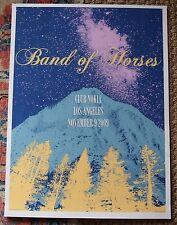 Vintage 2009 Original Band of Horses Concert Poster Club Nokia Los Angeles CA