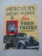 Original 1930s Hercules Diesel engines for 1935 - 1939 Ford trucks brochure