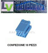 2666 MCA Confezione 10 Pezzi Connettore Autoradio Mini-ISO Colore Blu