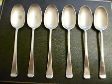 6 X  ANTIQUE, SILVER PLATED DESSERT SPOONS 'MAPPIN & WEBB' STACKED TIP, MWE10