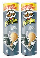 2 x Pringles Salt & Pepper Flavor Potato Chips 165g 5.8oz