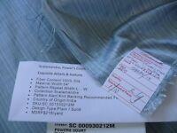 50.75YD SCALAMANDRE POWER'S COURT BLUESILK TAFFETA STRIE MSRP$218/Y