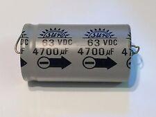 4700uF 63V Vintage Condensador Electrolítico Axial fba36b de Sun