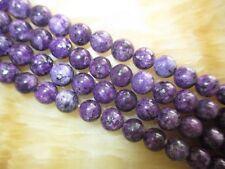 "8MM NATURAL purple spot JASPER GEMSTONE ROUND BEADS 15""##MJ101"