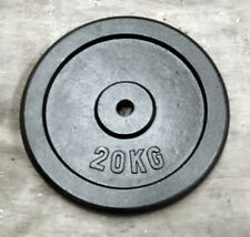 """20Kg Weight Disc, Cast Iron, 1"""" clearance hole, Plate for 1"""" Bars"""