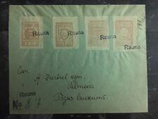 1918 Rauna To Walmecra Latvia Registered cover To Latvia