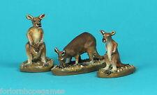 Kangaroo (3) 20mm metal miniature Warhammer Miniature Unpainted Historical