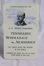 Tennessee Wholesale Nurseries - J.C. Hale Peaches - 1902 Winchester Tenn. CC