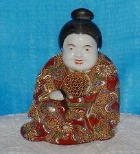 """Japonais satsuma oriental figurine main décoré 6 """"tall base 5"""" L c1920s"""