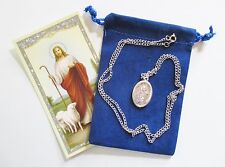 St. Juan Diego Saint Medal with 24 Inch Necklace