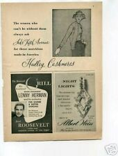 Lenny Herman Jazz Hotel Roosevelt 1940's Original Ad