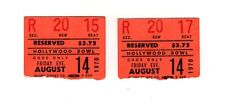 Rare Peter, Paul & Mary At The Hollywood Bowl August 14, 1970 Concert Stubs.
