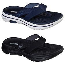 Skechers Go Walk 5 - Sun Kiss Flip Flops Womens Lightweight Thong Sandals Slides