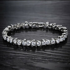 For Women Female Crystal Bridal Zirconia Tennis Bracelet Bracelet Jewelry