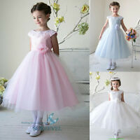 Tulle Birthday Flower Girl Dresses Party Prom Pageant Bridesmaid Dresses