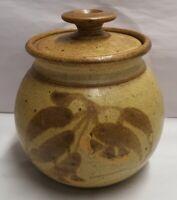 Vintage Allan Letts Cannie Ridge Pottery Cannister Harcourt VIC Crock c1976-90