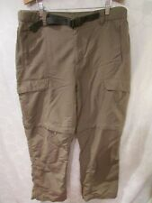 THE NORTH FACE Outdoor Hiking Convertible Nylon Cargo Pants Moss Men's L Short