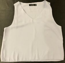 glassons ice blue  sleeveless  lined top 10