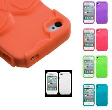 Solid Silicone Skin Cover Case for iPhone 4 4S