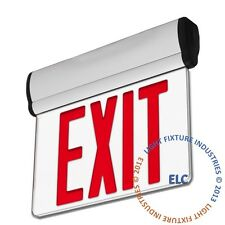 Red LED Edge Lit Exit Emergency Light - Rotating Fire Safety Egress Sign - ELRTR