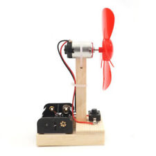 Wind Power Generator Kid Electric Fan Motor IQ Training Physics Assemble Toy
