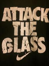 NIKE MEN'S BLACK (ATTACK THE GLASS)GRAPHIC  BASKETBALL DRI-FIT SHIRT SZ/XL