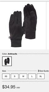 Black Diamond Black Diamond Lightweight Wooltech Gloves NWT Small Glove Liners